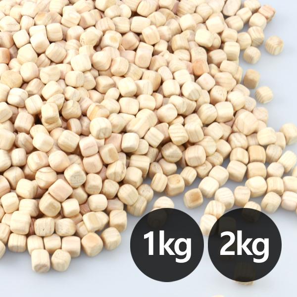 편백나무칩 큐브칩 편백칩(2kg)